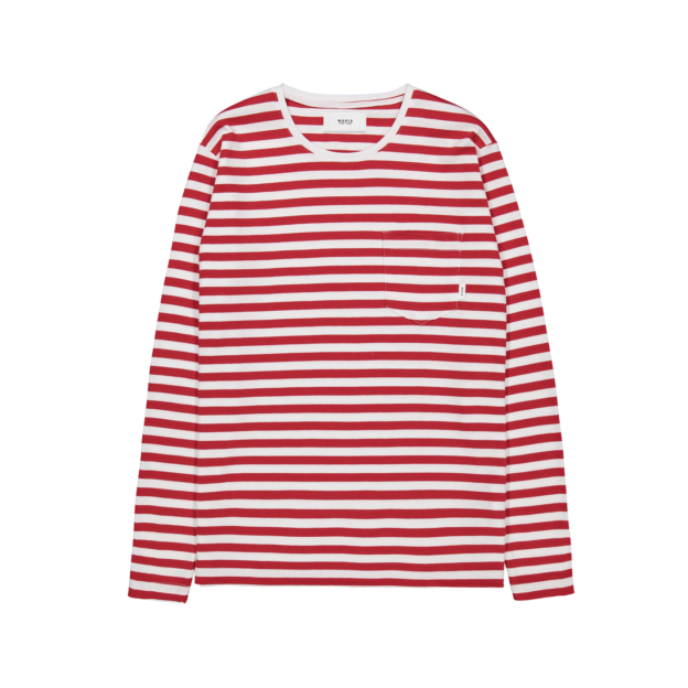 Makia Verkstad Longsleeve Red-White